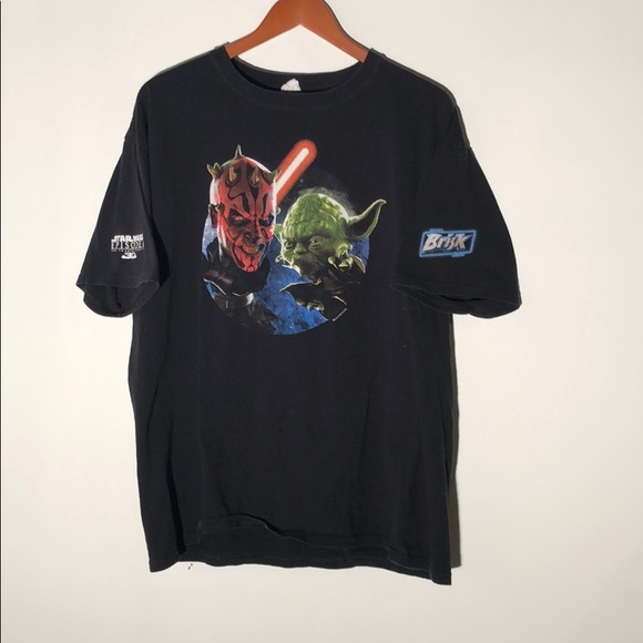 2012 Star Wars vintage Yoda darth maul shirt